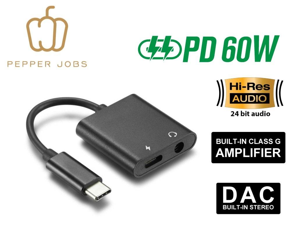 USB-C to 3.5mm Audio Adapter & PD