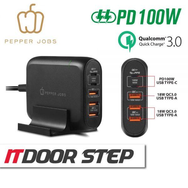 100W 5-Ports Dual USB-C PD Desktop Charger